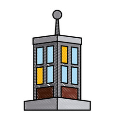 Edifice building isolated vector