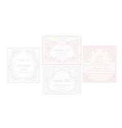 elegant abstract vintage frame invitation set vector image