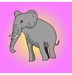 Elephant pop art vector image
