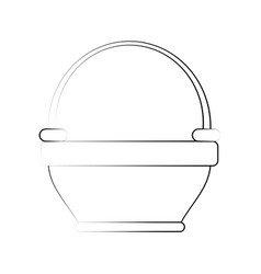 empty basket isolated vector image