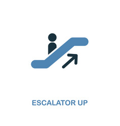 escalator up icon monochrome style design from vector image