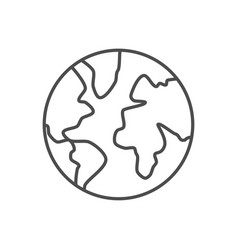 globe related thin line icon vector image