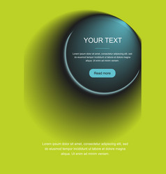 gradient abstract circle with text vector image