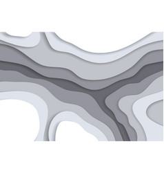 grayscale background in paper cut and craft style vector image