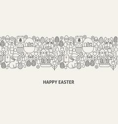 Happy easter banner concept vector