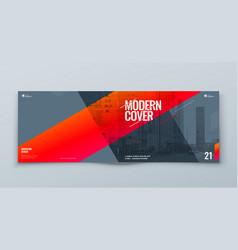 Horizontal brochure template layout design vector