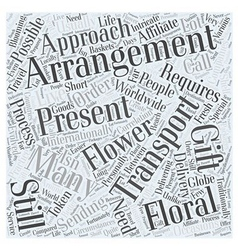 International flower delivery Word Cloud Concept vector