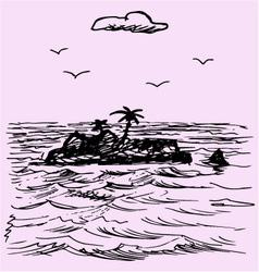 Island ocean vector image