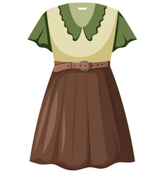isolated beautiful female outfit vector image