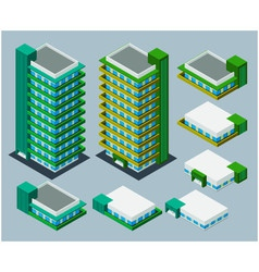 isometric apartment vector image vector image