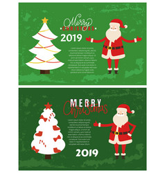 joys greeting card on 2019 new year holiday vector image