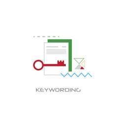 keywording search web optimization white vector image