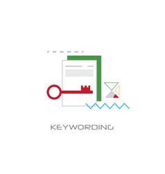 Keywording search web optimization white vector