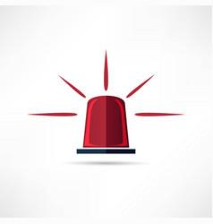 light siren icon vector image