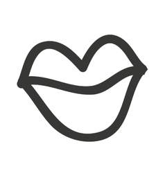 Lips drawn isolated icon design vector