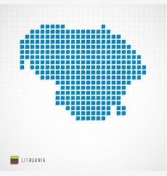 Lithuania map and flag icon vector