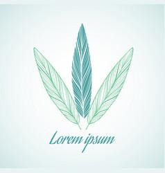 logo design element on white background vector image