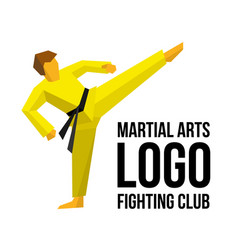Logo template for martial arts club or gym vector