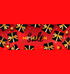 midseason sale banner christmas backgrounds vector image