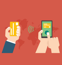 Mobile payment e banking online payment use vector