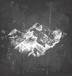 mountains in hand drawn sketch style template for vector image