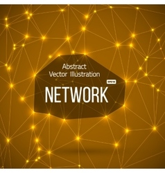 Network Connections Background with Lines vector image