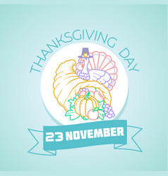 november thanksgiving day vector image