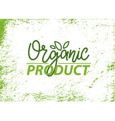 Organic product fresh production ingredient banner vector
