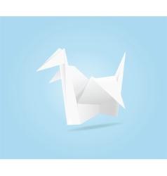 Origami crane vector