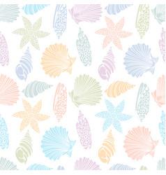 Pattern seashells vector