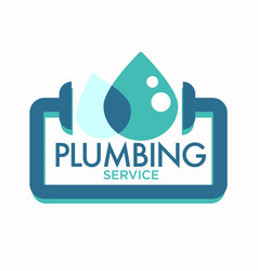 Plumbing service isolated icon pipeline repairing vector