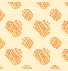 potato snack pattern 2 vector image