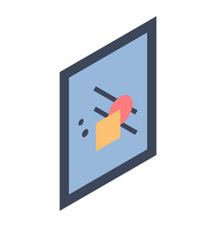 rectangular wall picture icon isometric style vector image