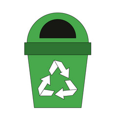 recycle trash can vector image