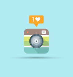 retro photo camera flat style vector image