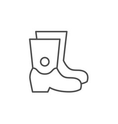 rubber boots line outline icon vector image