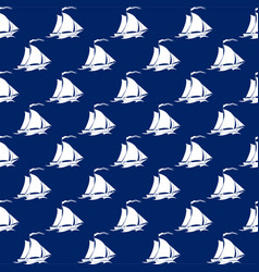 Seamless travel pattern with sailboat vector
