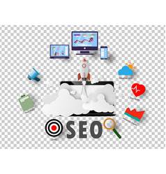 seo ideas background graphics and business vector image