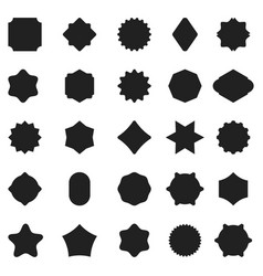 set of black badge shape vector image