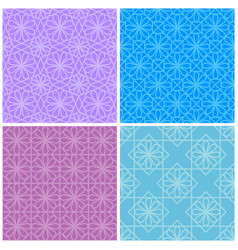 Set of seamless geometric patterns vector