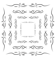 Set of tribal frames with place for your text vector image