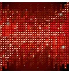 Shiny rhinestone red mosaic background vector