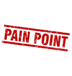 square grunge red pain point stamp vector image