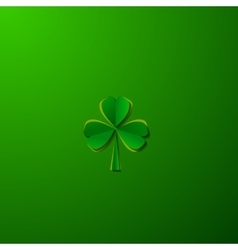 St Patricks day background with clover vector image