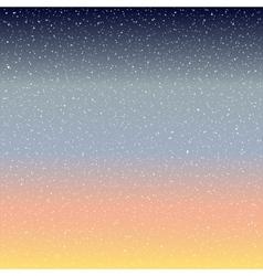 Stars in the night sky vector image