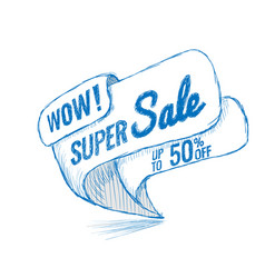 Super sale up to 50 off vector