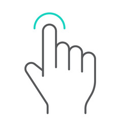 tap thin line icon finger and gesture hand touch vector image