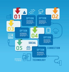 Technology infographics design options banner vector image