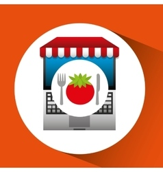 Tomato online shopping app vector