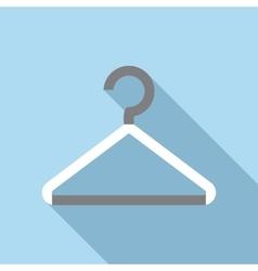 White coat hanger icon flat style vector